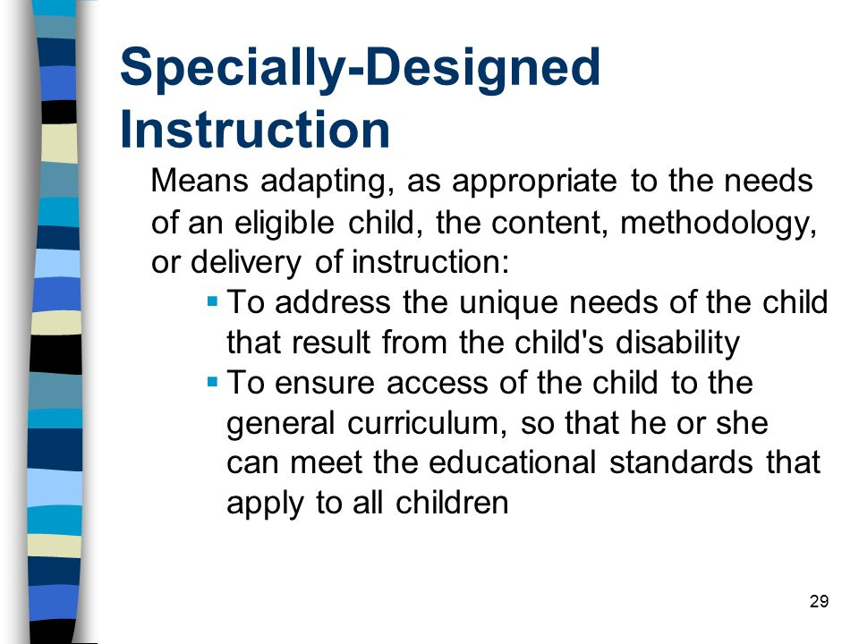 Specially-Designed Instruction