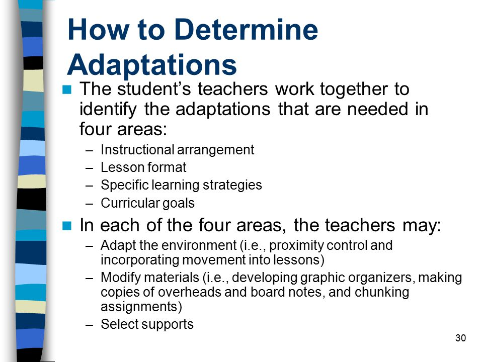 How to Determine Adaptations
