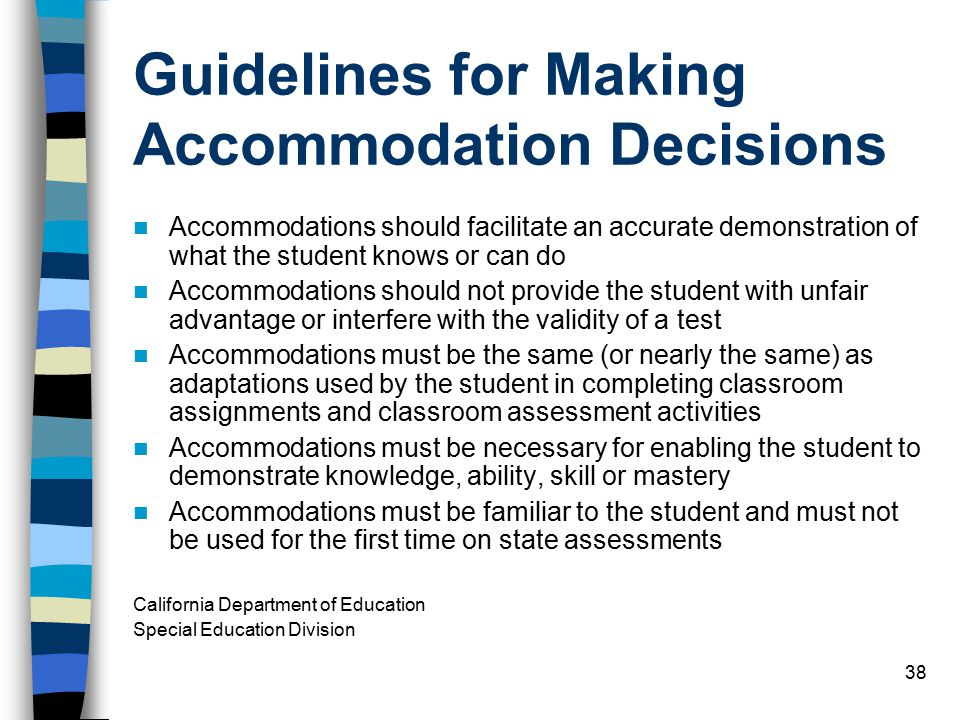 Guidelines for Making Accommodation Decisions