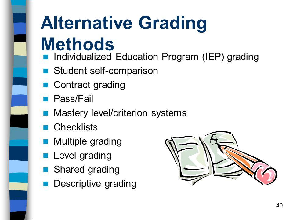Alternative Grading Methods