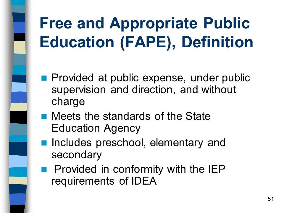 Free and Appropriate Public Education (FAPE), Definition