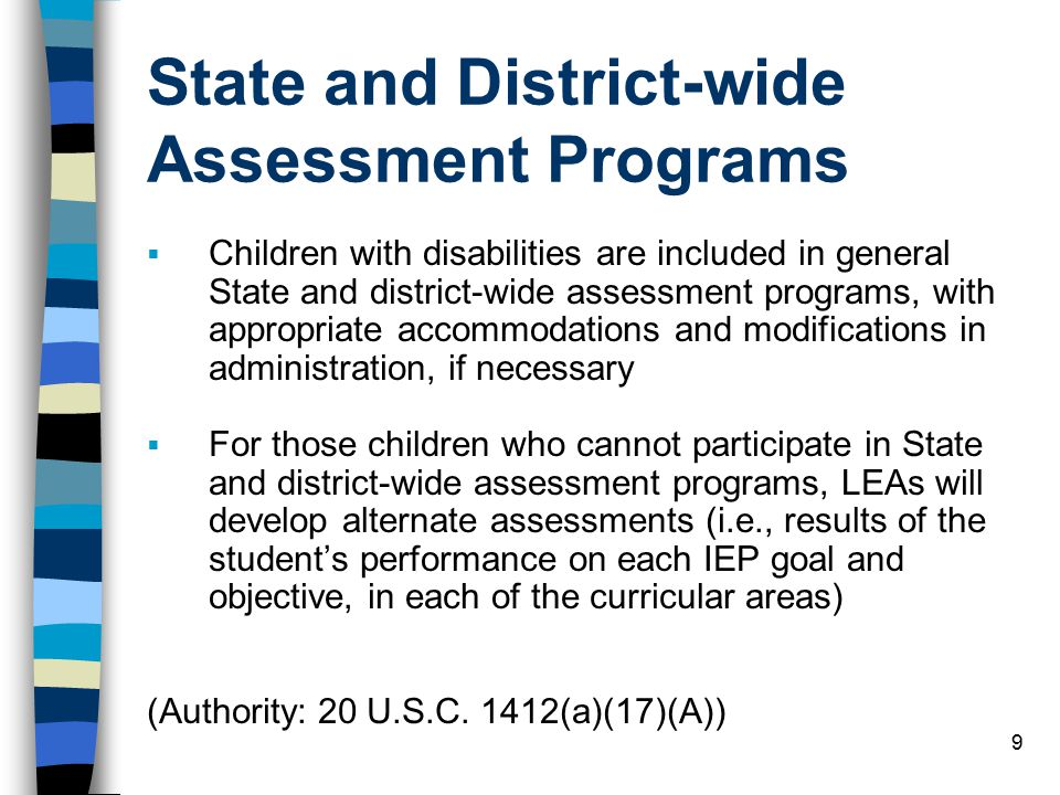 State and District-wide Assessment Programs