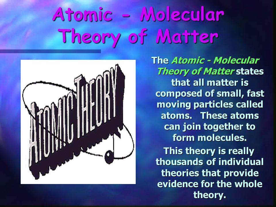Atomic - Molecular Theory of Matter