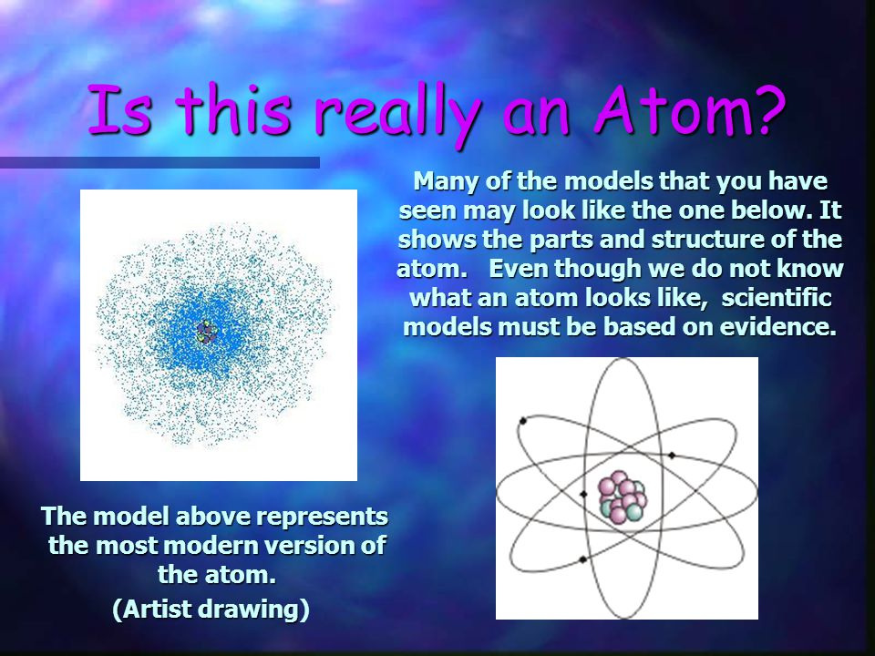 The model above represents the most modern version of the atom.