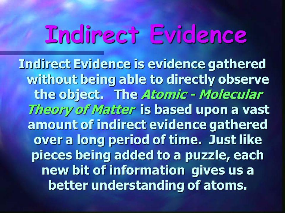 Indirect Evidence