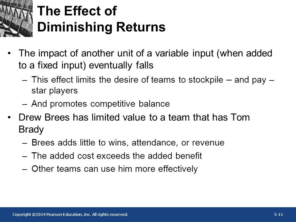 The Effect of Diminishing Returns