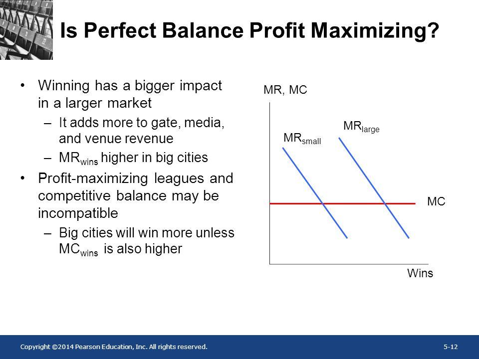 Is Perfect Balance Profit Maximizing