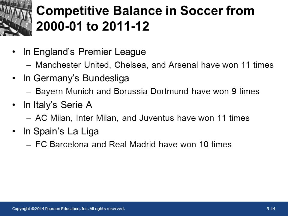 Competitive Balance in Soccer from 2000-01 to 2011-12