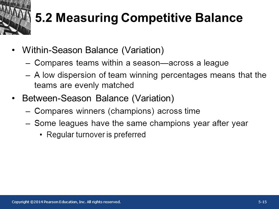 5.2 Measuring Competitive Balance