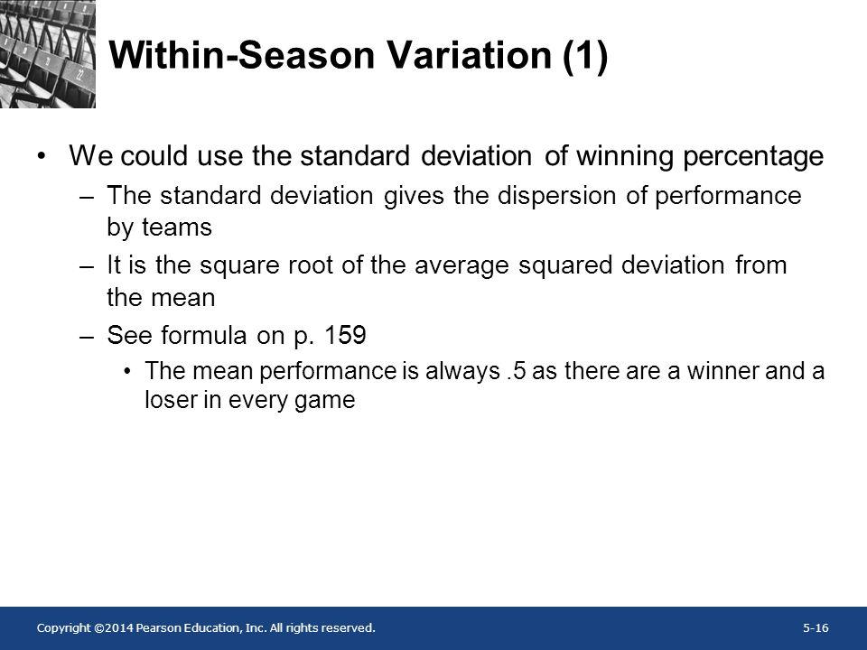Within-Season Variation (1)