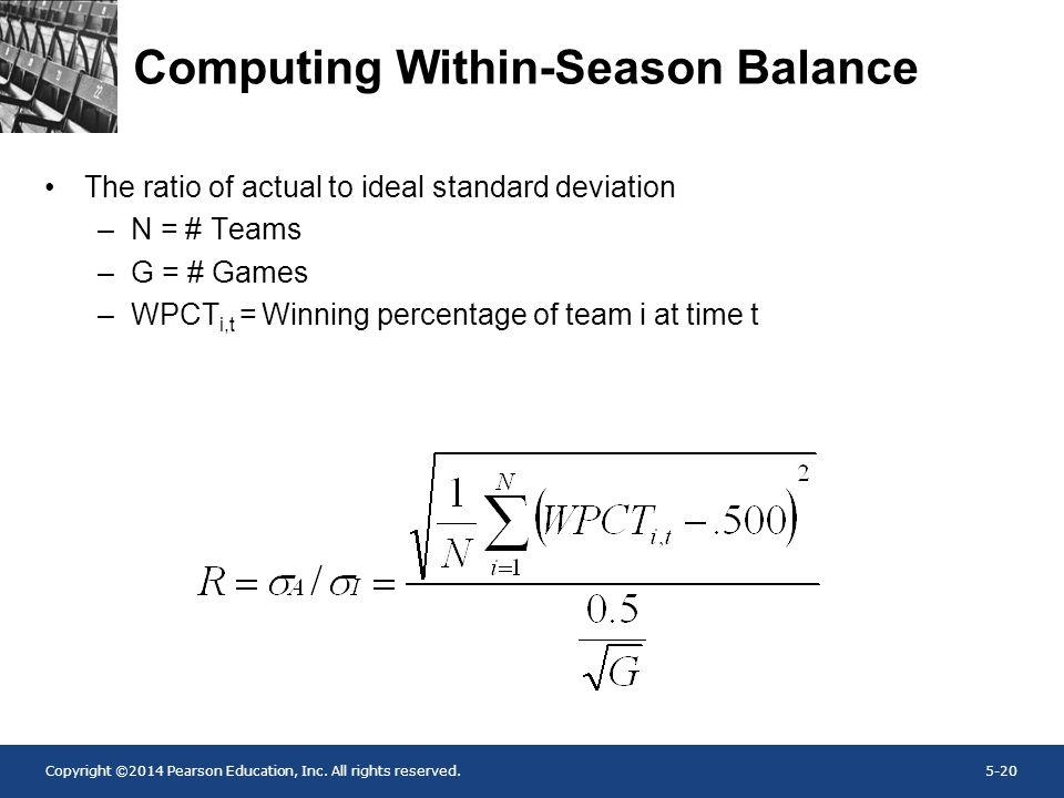 Computing Within-Season Balance