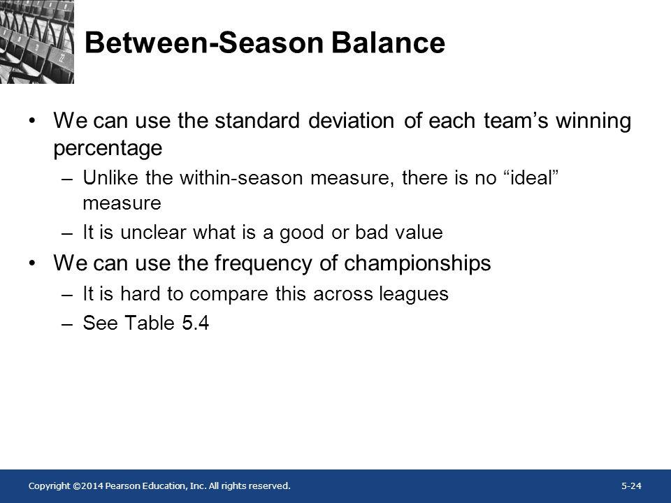 Between-Season Balance