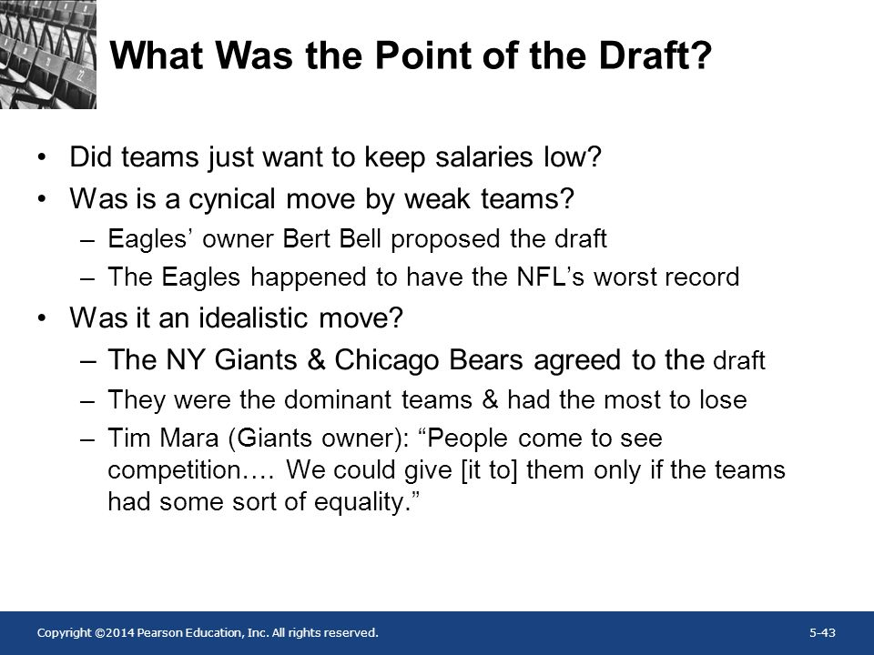 What Was the Point of the Draft