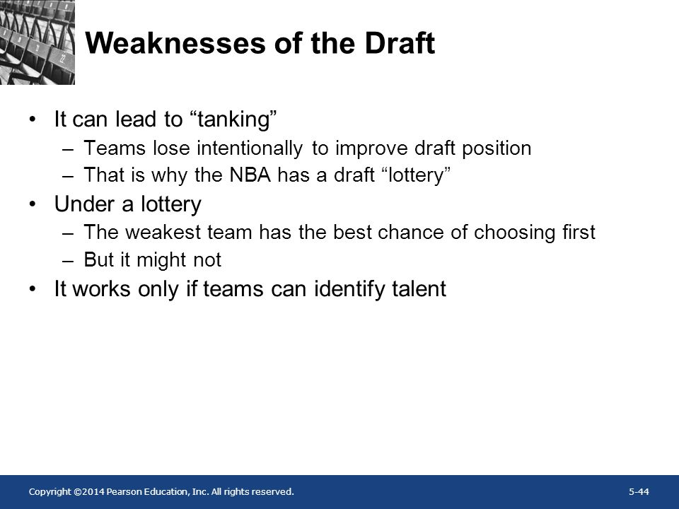 Weaknesses of the Draft