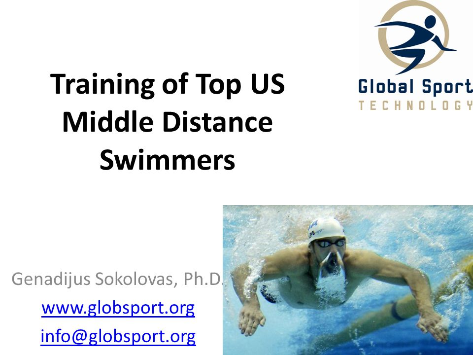 Training of Top US Middle Distance Swimmers