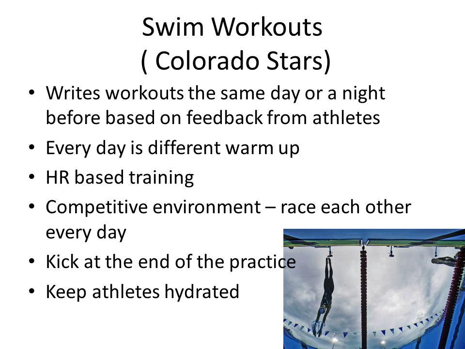 Swim Workouts ( Colorado Stars)