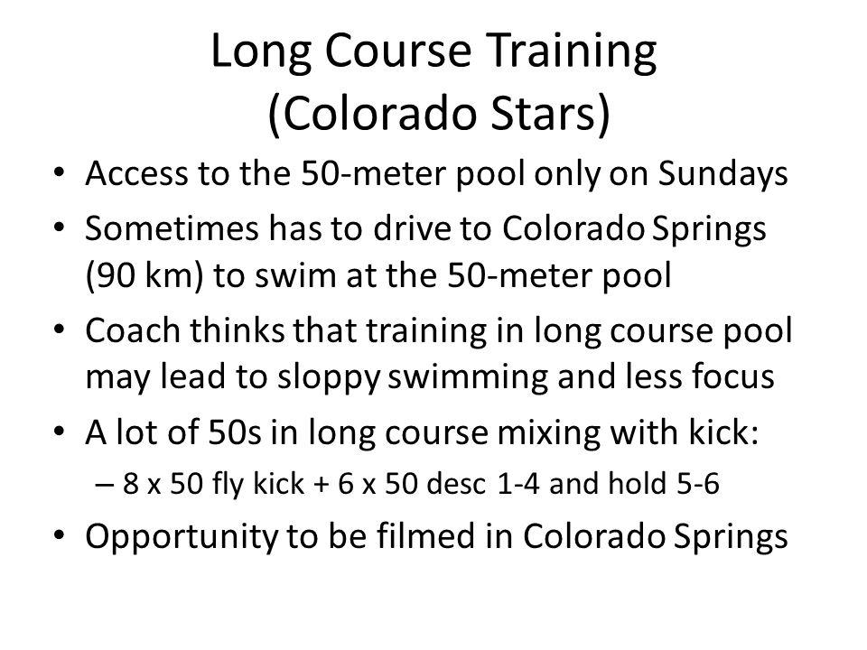 Long Course Training (Colorado Stars)