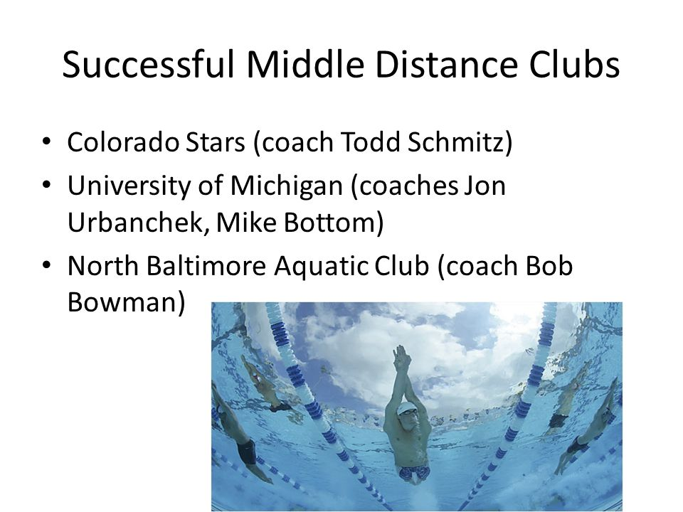 Successful Middle Distance Clubs