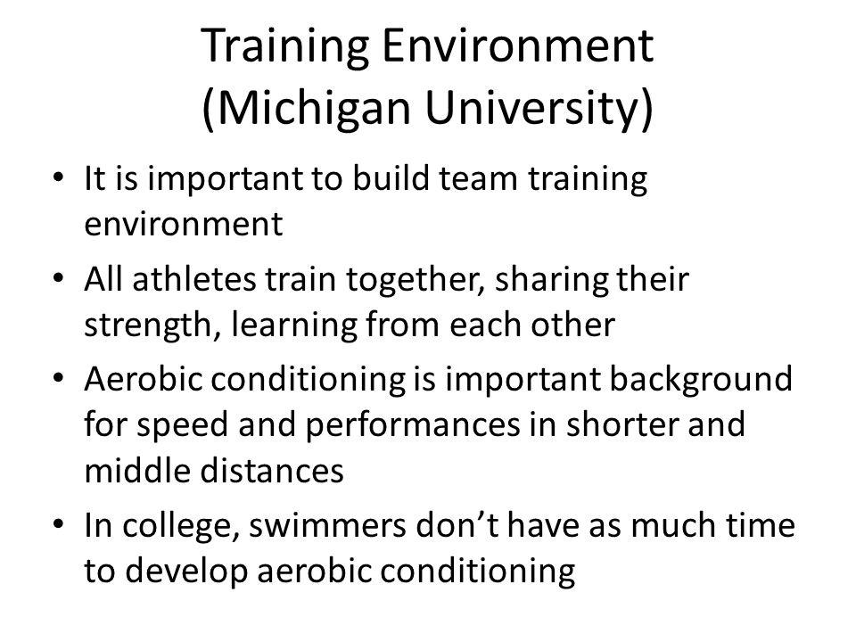 Training Environment (Michigan University)