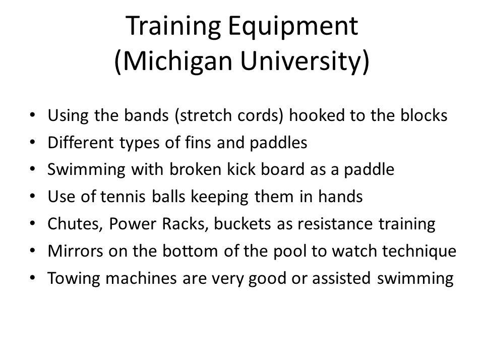 Training Equipment (Michigan University)