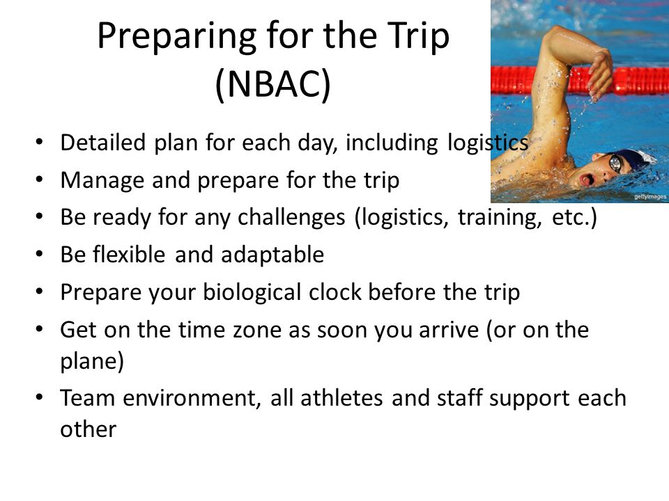 Preparing for the Trip (NBAC)