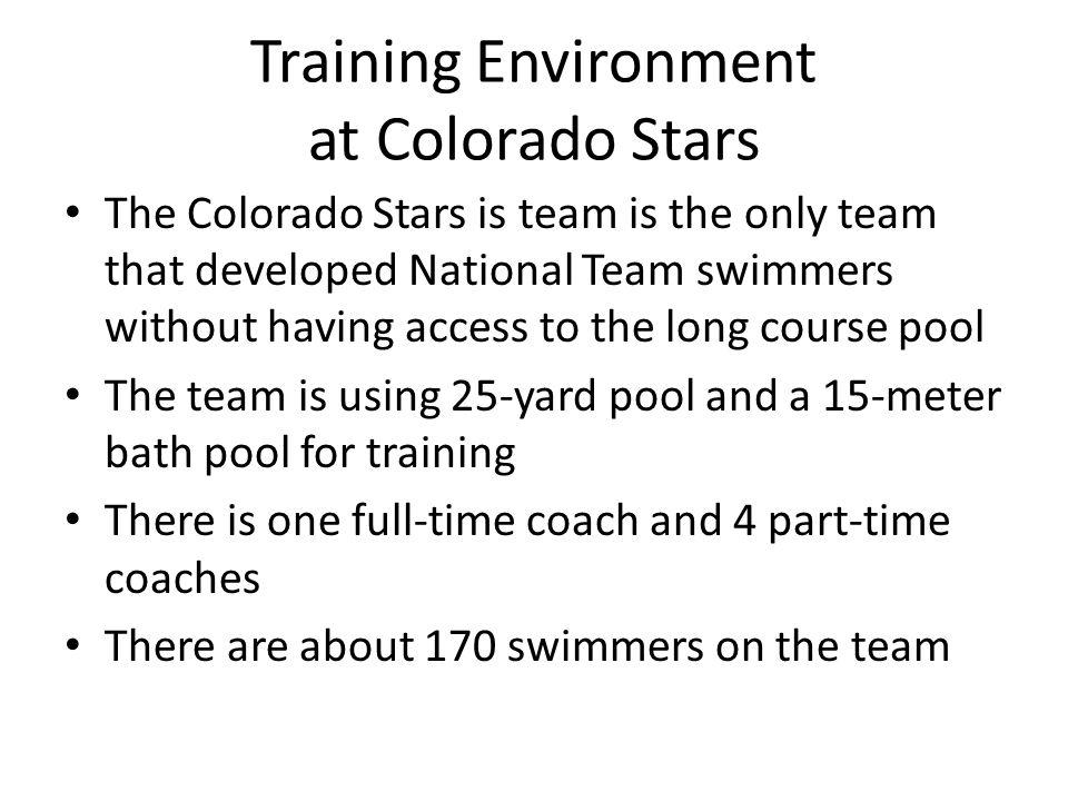 Training Environment at Colorado Stars