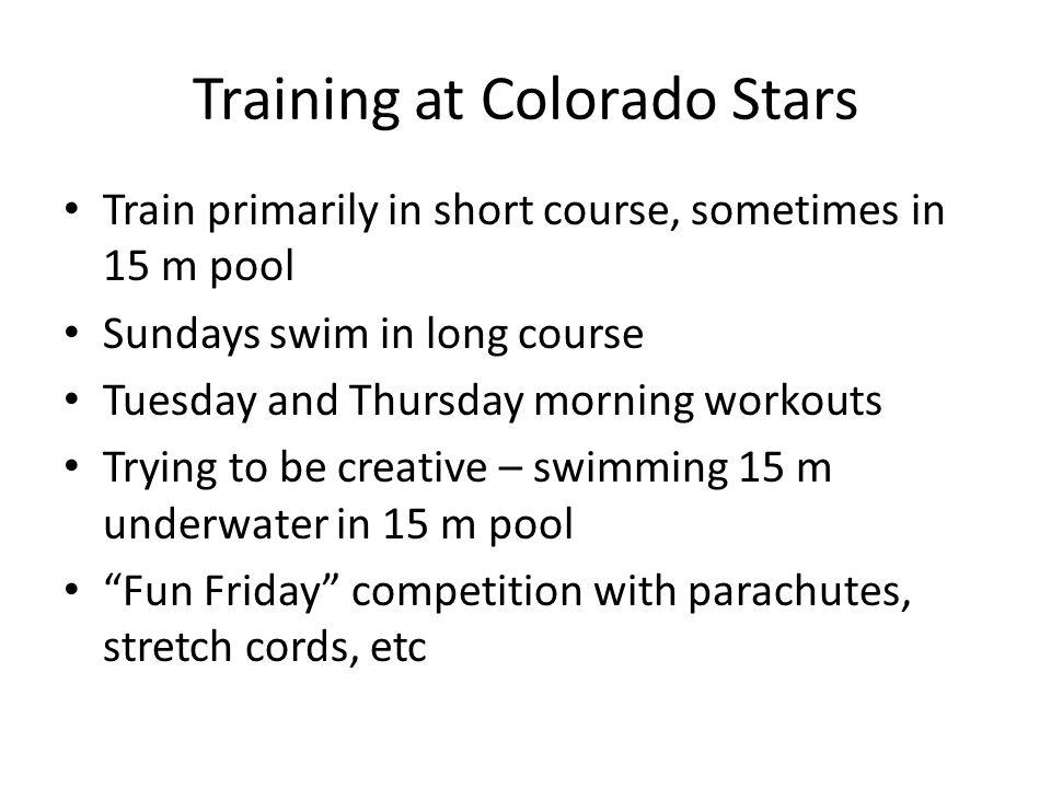 Training at Colorado Stars