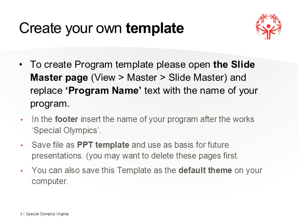 how to design your own powerpoint template - the special olympics powerpoint template ppt download