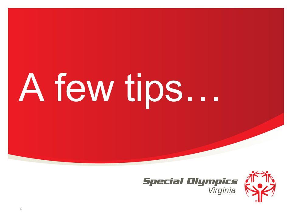 A few tips…