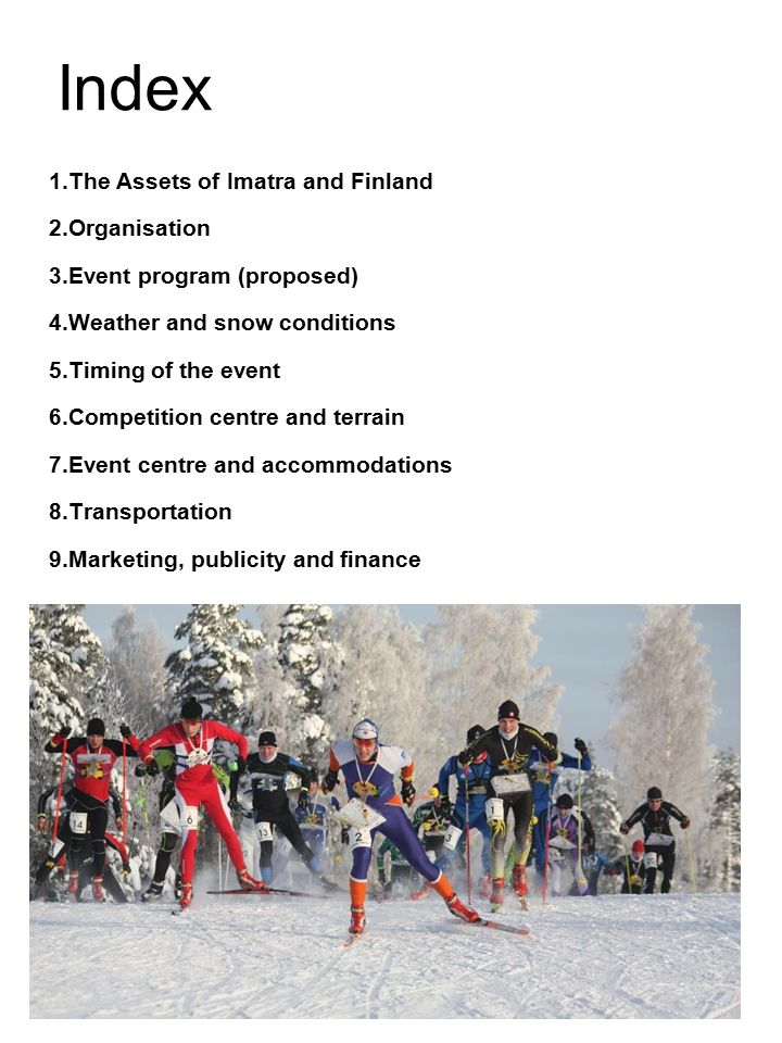 Index 1.The Assets of Imatra and Finland Organisation