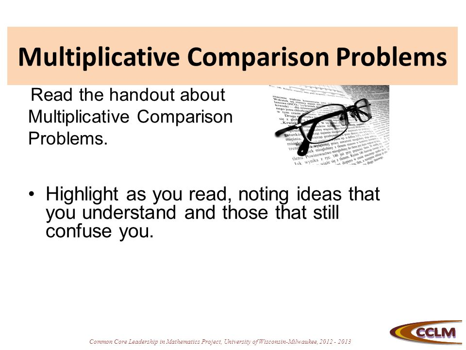 Multiplicative Comparison Problems
