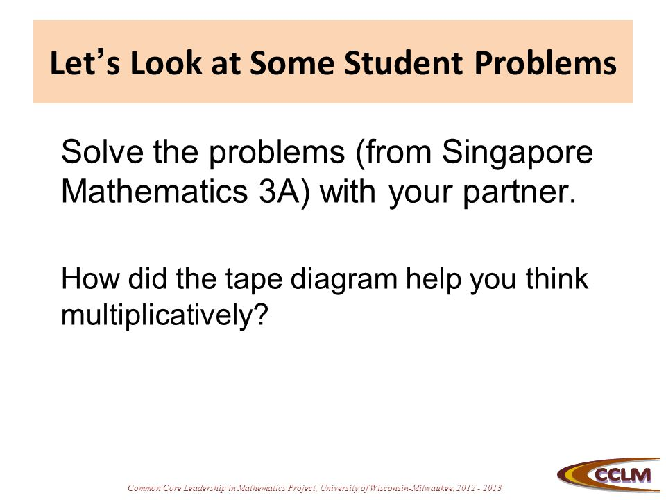 Let's Look at Some Student Problems
