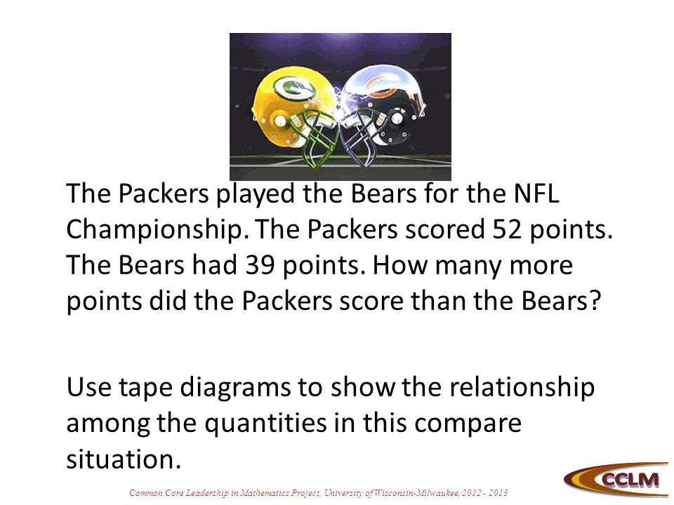The Packers played the Bears for the NFL Championship