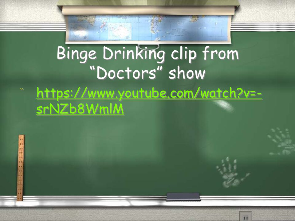 Binge Drinking clip from Doctors show