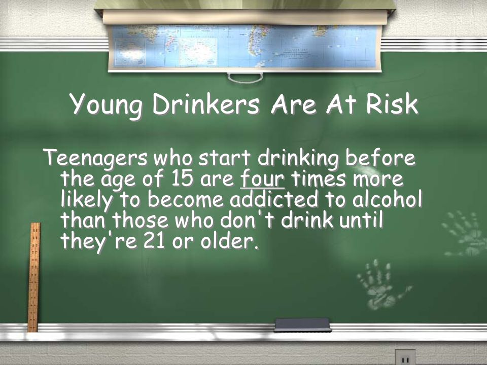 Young Drinkers Are At Risk
