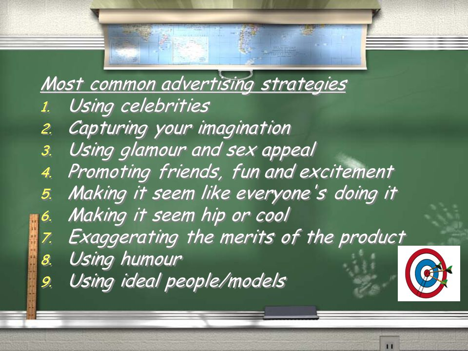 Most common advertising strategies