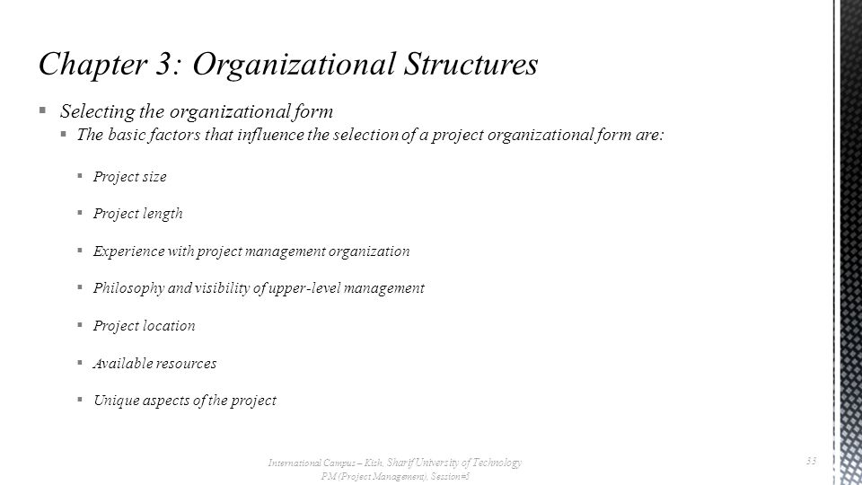 Chapter 3: Organizational Structures