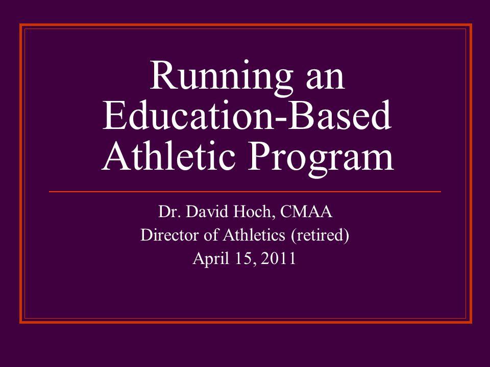 Running an Education-Based Athletic Program