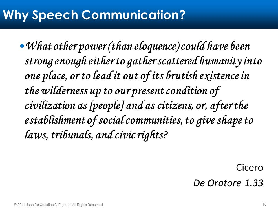 Why Speech Communication