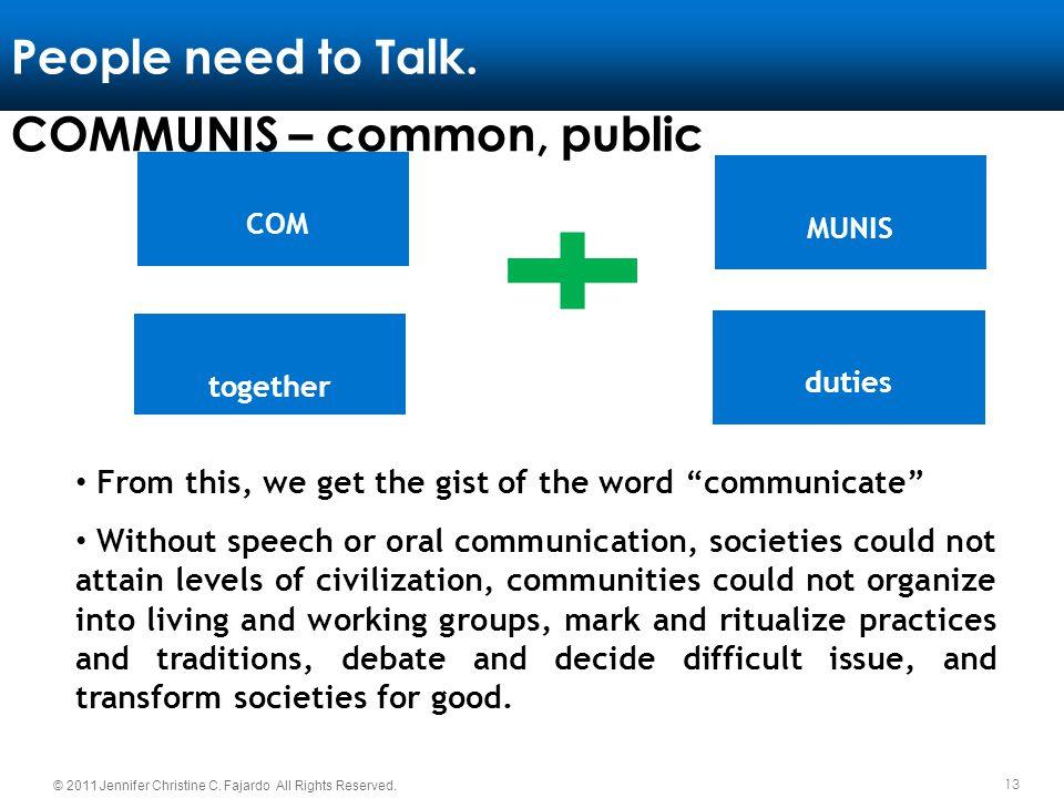 COMMUNIS – common, public