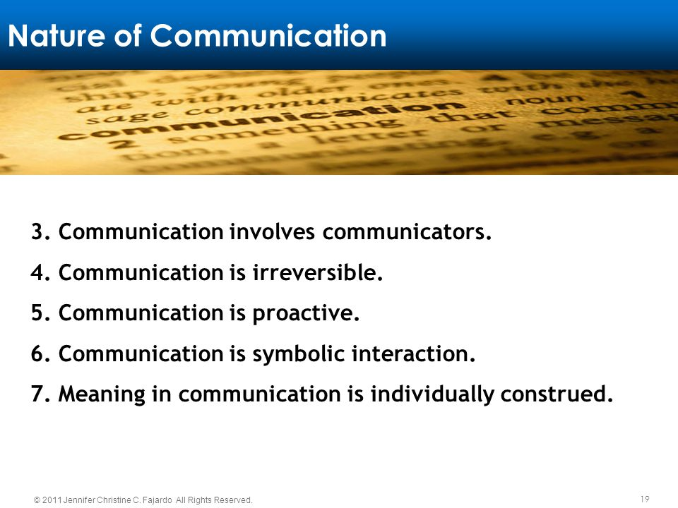 Nature of Communication