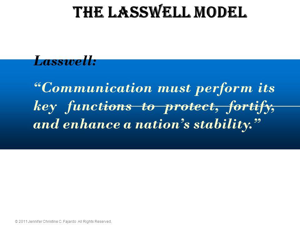 The LASSWELL Model Lasswell: