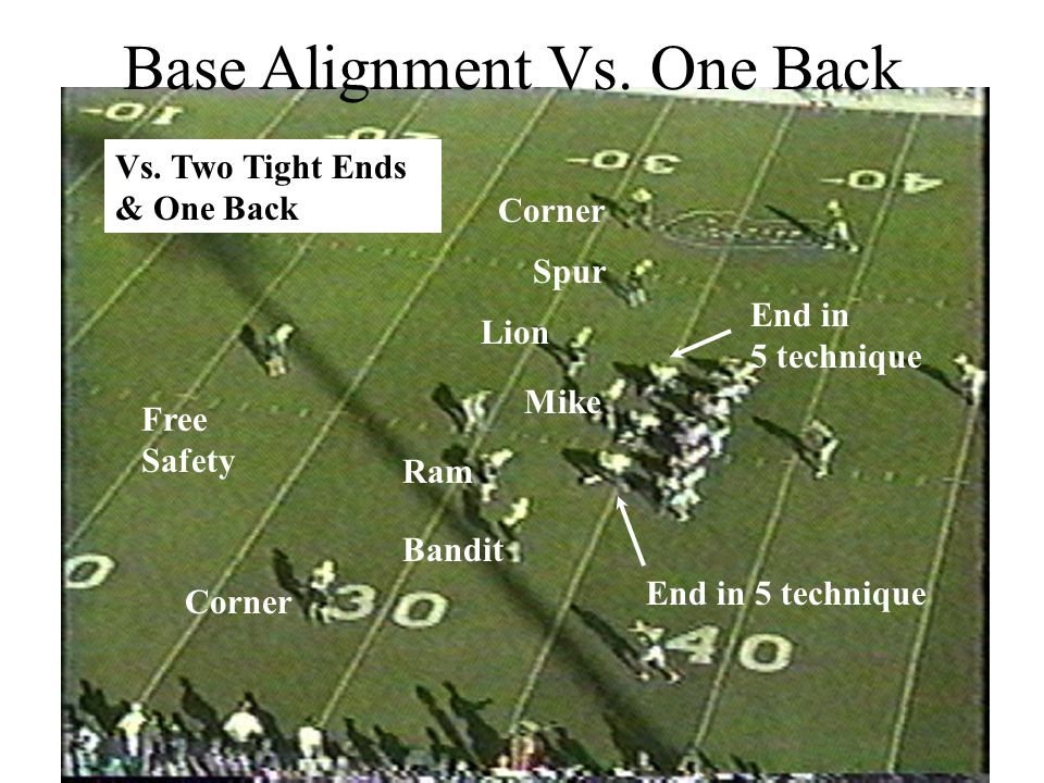 Base Alignment Vs. One Back
