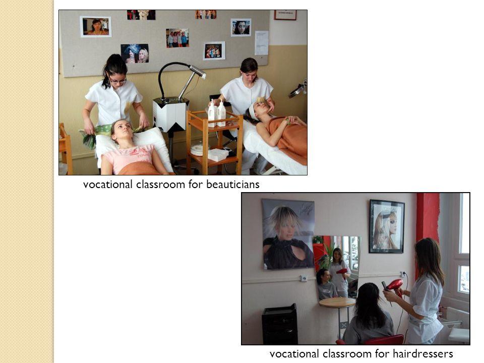 vocational classroom for beauticians