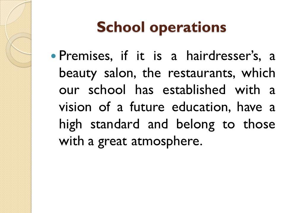 School operations