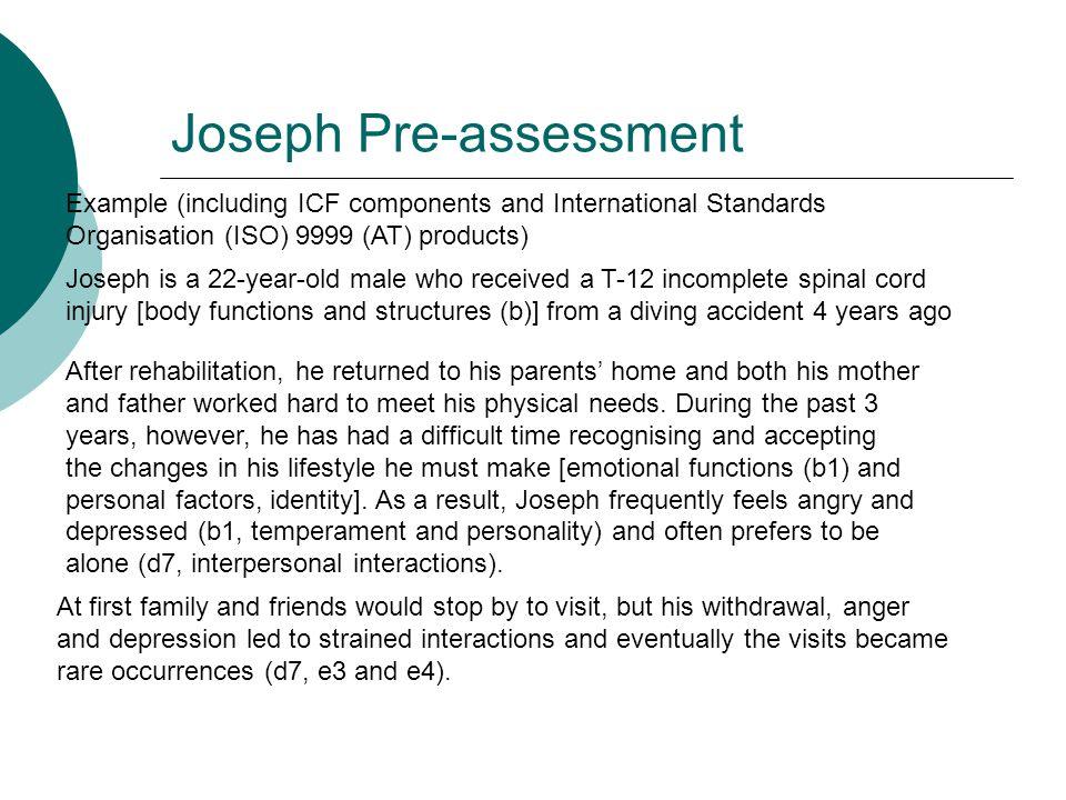 Joseph Pre-assessment
