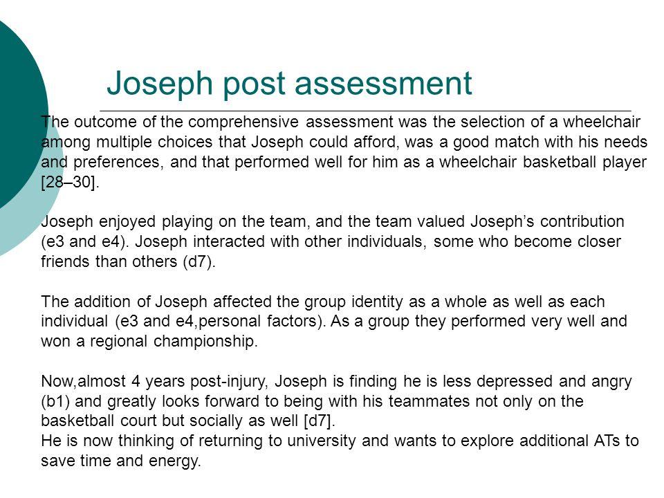 Joseph post assessment