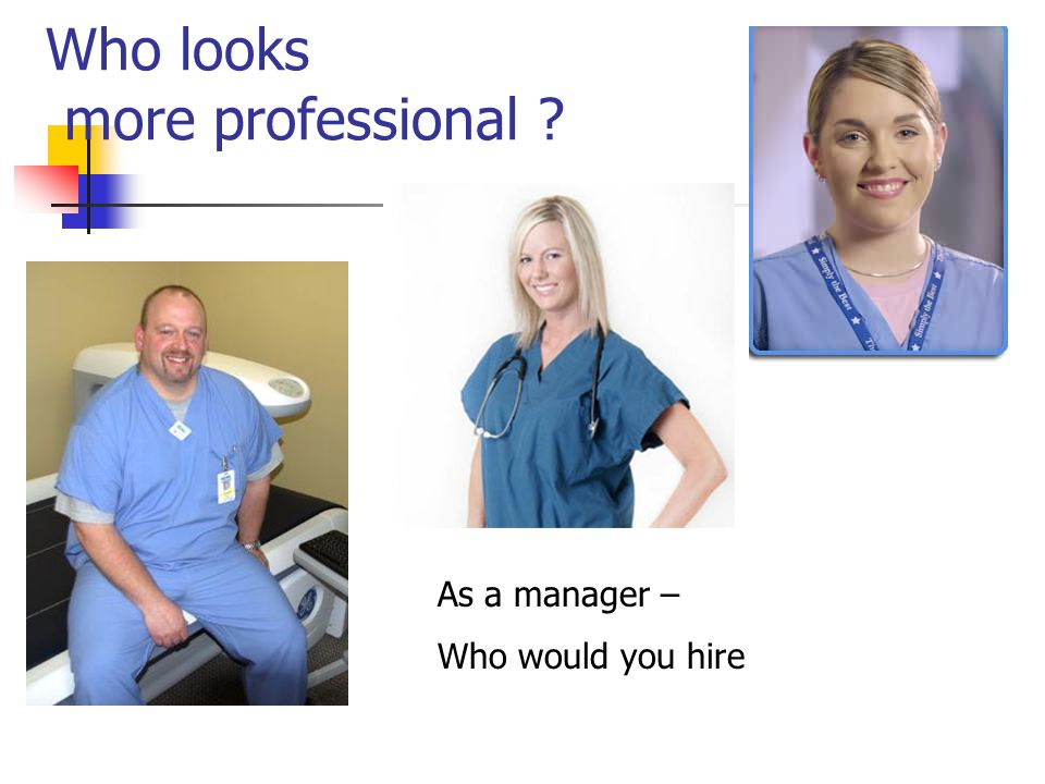 Who looks more professional