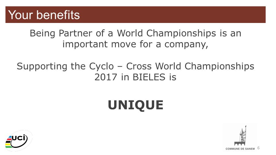 Supporting the Cyclo – Cross World Championships 2017 in BIELES is