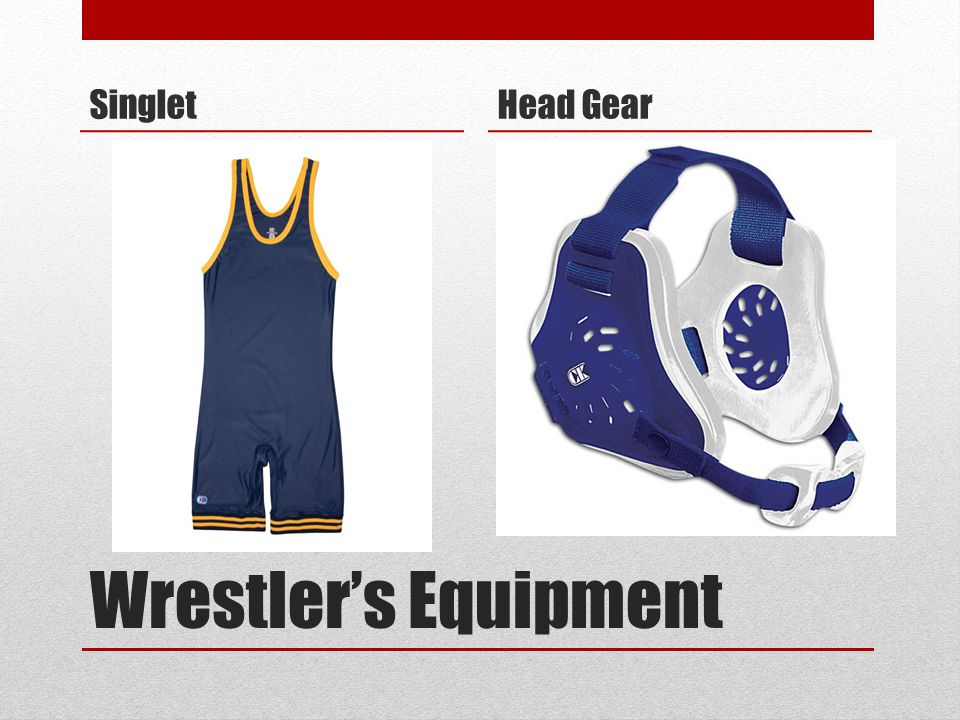 Singlet Head Gear Wrestler's Equipment